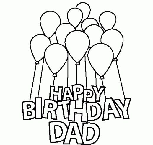 518x492 Happy Birthday Dad Coloring Pages I Love You Dad!