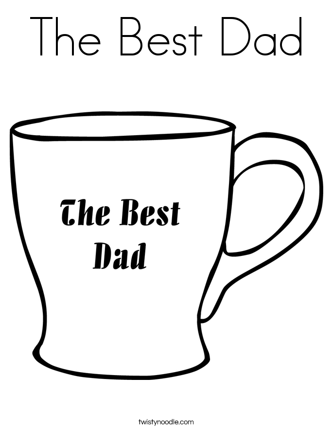 685x886 The Best Dad Coloring Page