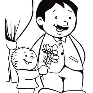 300x300 Best Dad I Love You Coloring Pages Best Place To Color