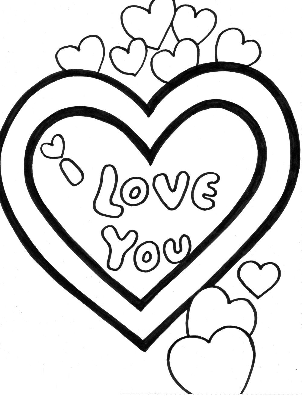 I Love You Dad Coloring Pages | Free download best I Love You Dad ...