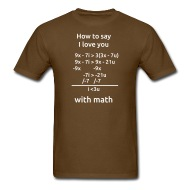 190x190 How To Say I Love You With Math T Shirt Relativistic Designs