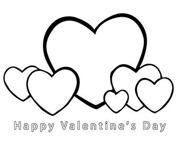 It is a photo of Juicy Happy Valentines Day Heart Coloring Page
