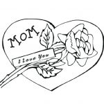 150x150 Magnificent Charming I Love My Mommy Coloring Pages Image You Mom