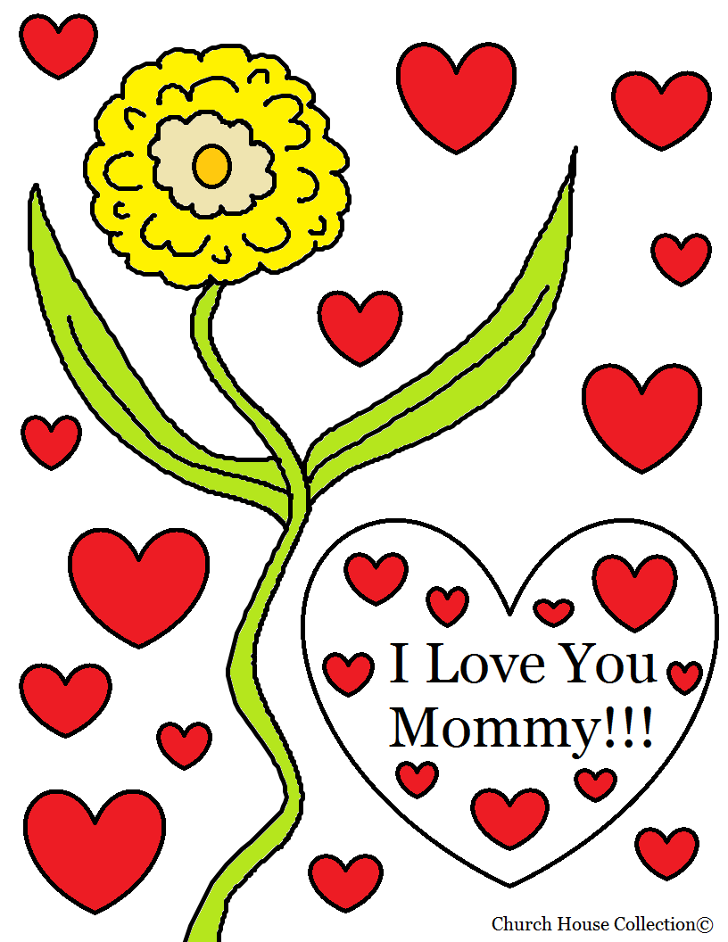816x1056 Church House Collection Blog I Love You Mommy Coloring Page