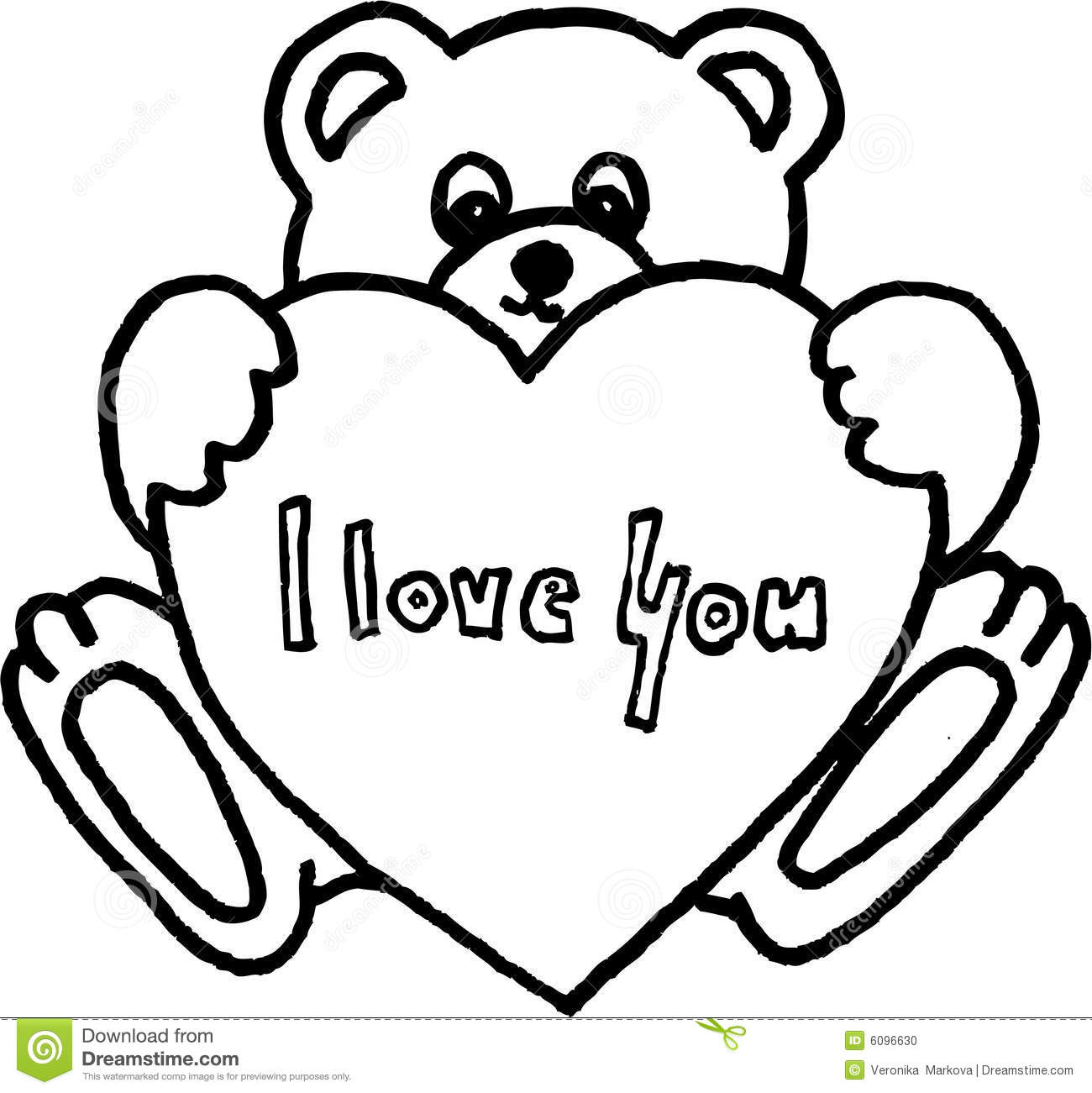 Coloring Pages I Love You 1300x1301 Drawn Teddy Bear
