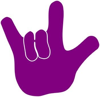I Love You Sign Language Clipart