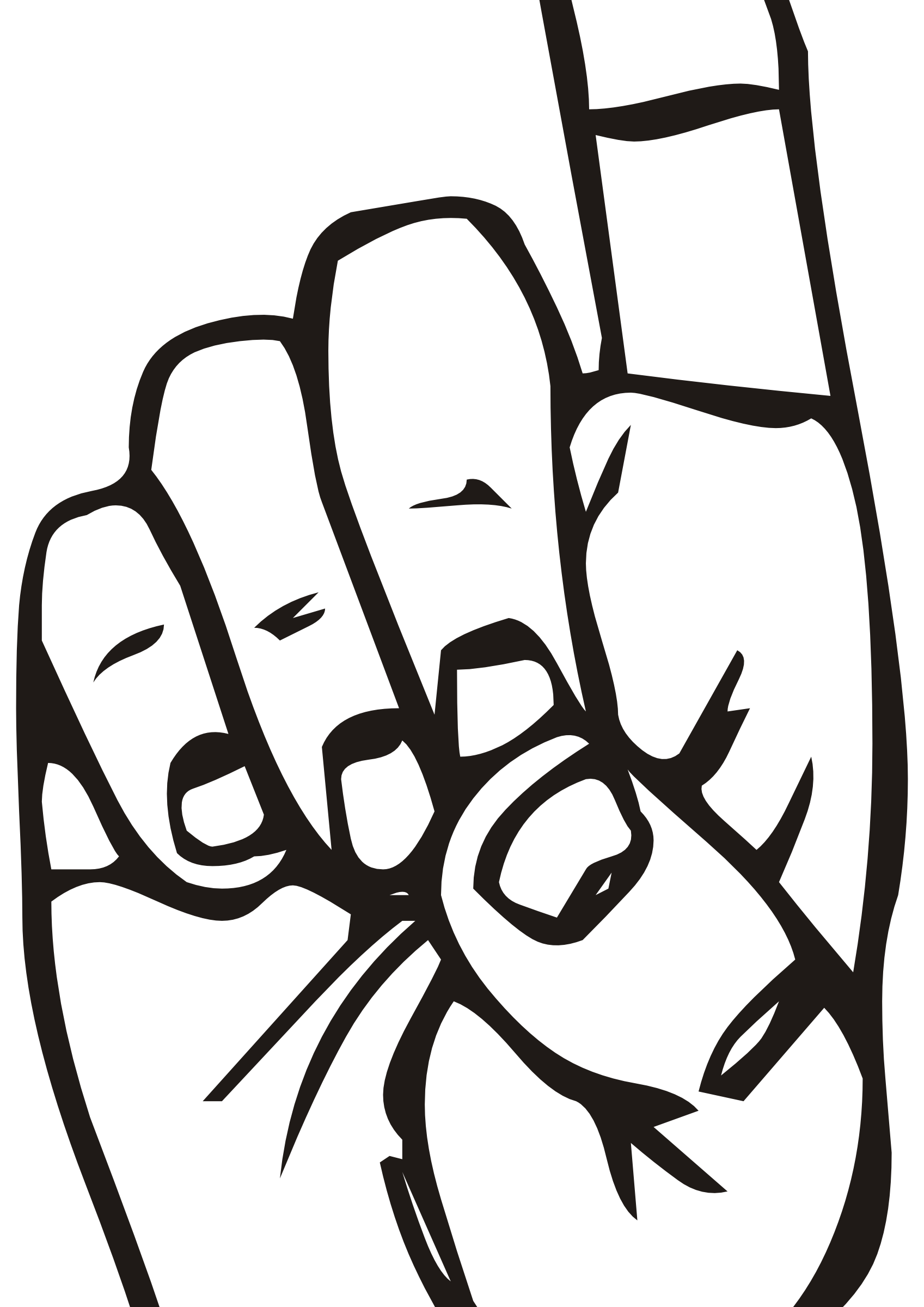 1697x2400 Finger Pointing At You Clipart