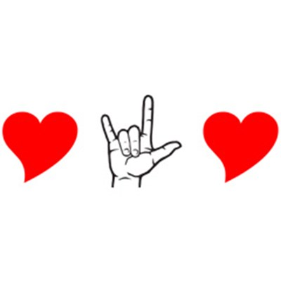 400x400 Sign Language Clipart I Love