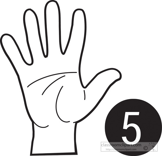 550x529 American Sign Language Clip Art