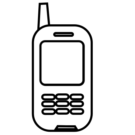 444x444 Iphone Cell Phone Clipart Free Clipart Images 5