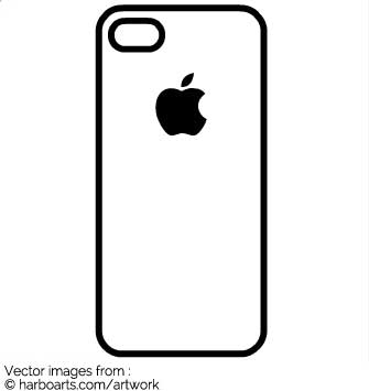 335x355 Iphone Clipart Vector Art