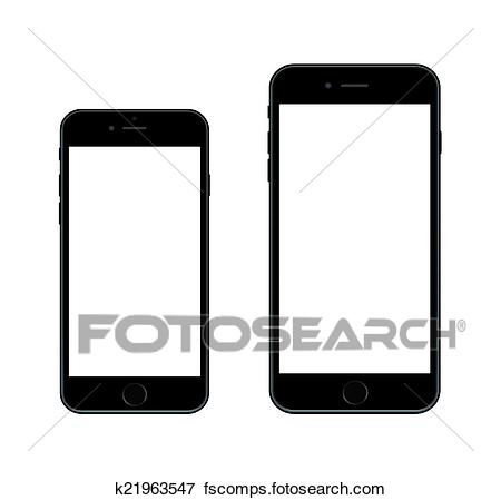 450x449 Clip Art Of New Smartphone Iphone 6 K21963547