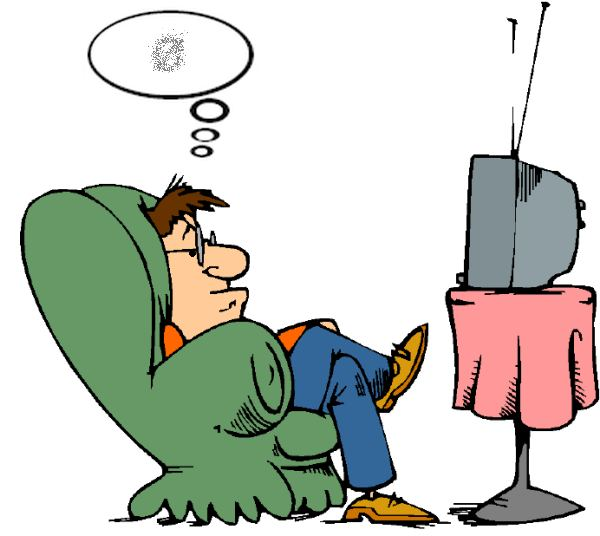 600x536 Watch Television Clipart