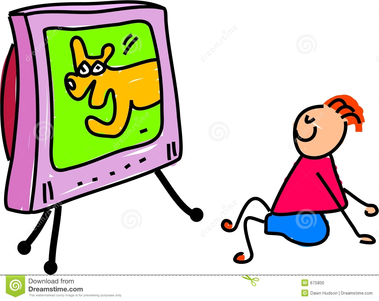 1300x1032 Watch Tv All Day Kids Clipart