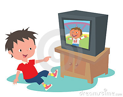 400x316 Boy Watching Television Clipart