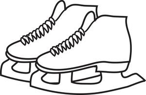 300x196 Ice Skates Clipart Image