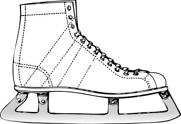 600x412 Ice Skate Clip Art Free Vector In Open Office Drawing Svg ( Svg