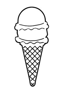 216x298 Ice Cream Cone Outline Clip Art