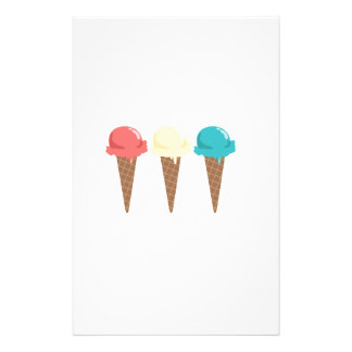 324x324 Ice Cream Stationery Templates, Ice Cream Custom Stationery Templates