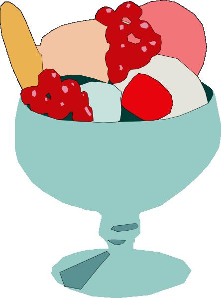 444x598 Free Ice Cream Bowl Clipart Image