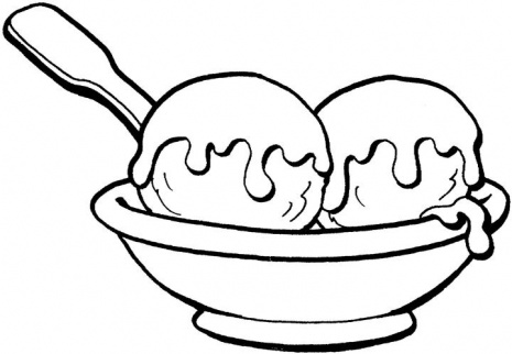 465x322 Ice Cream Black White Ice Cream Sundae Bowl Clipart Black