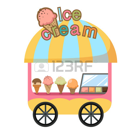 Ice Cream Cart Clipart