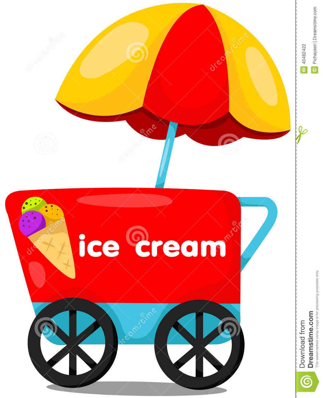 1057x1300 Ice Cream Cart Clipart