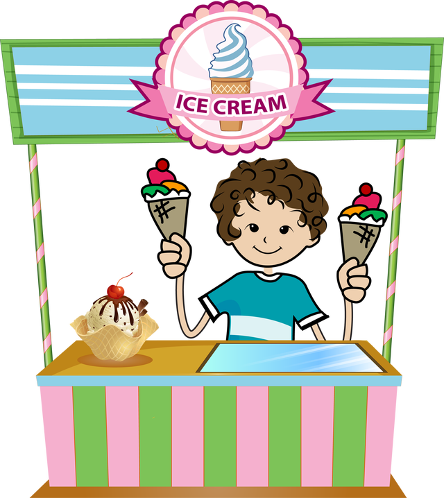640x718 Ice Cream Shop Clipart
