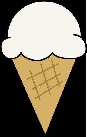 287x450 Vanilla Ice Cream Cone Clip Art