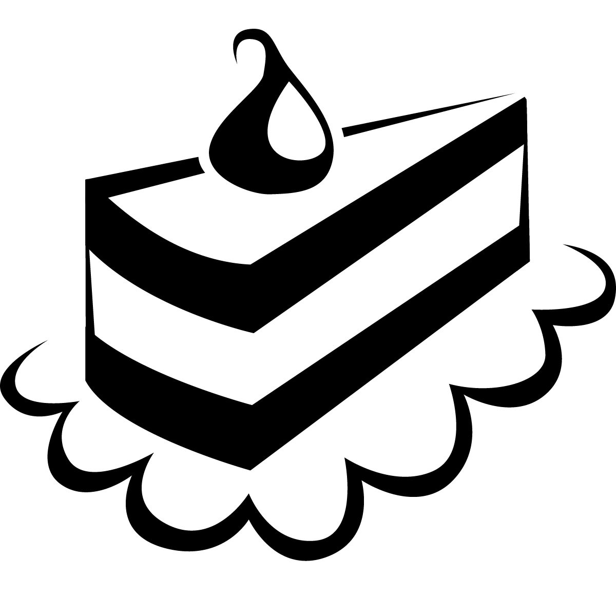 1200x1200 Free Clip Art Of Birthday Cake Clipart Black And White 0