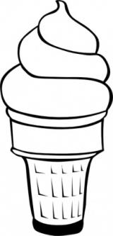 160x333 Ice Cream Scoop Clip Art Black And White Clipart Panda