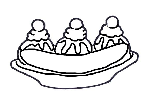 576x384 Ice Cream Clipart Banana Split