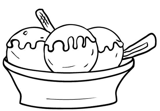 550x384 Sundae Clipart Black And White