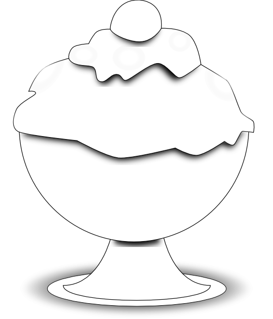 555x647 Black And White Ice Cream Clipart