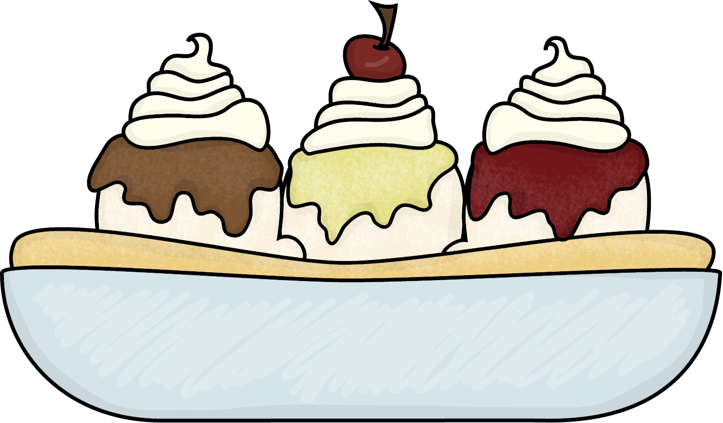 1483x867 Bowl Of Ice Cream Clipart Black And White Free