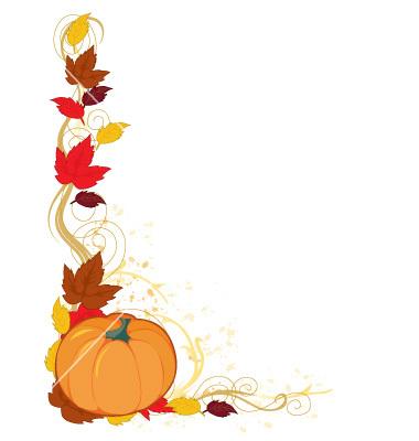 380x400 Fall Pumpkin Border Free Clipart Images Clipart