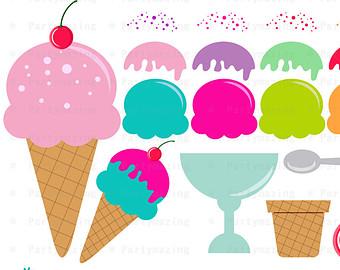 340x270 Ice Cream Clipart Set