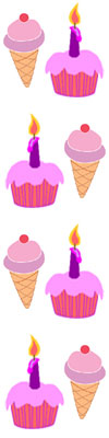 100x400 Ice Cream Treats Clip Art Clipart Panda