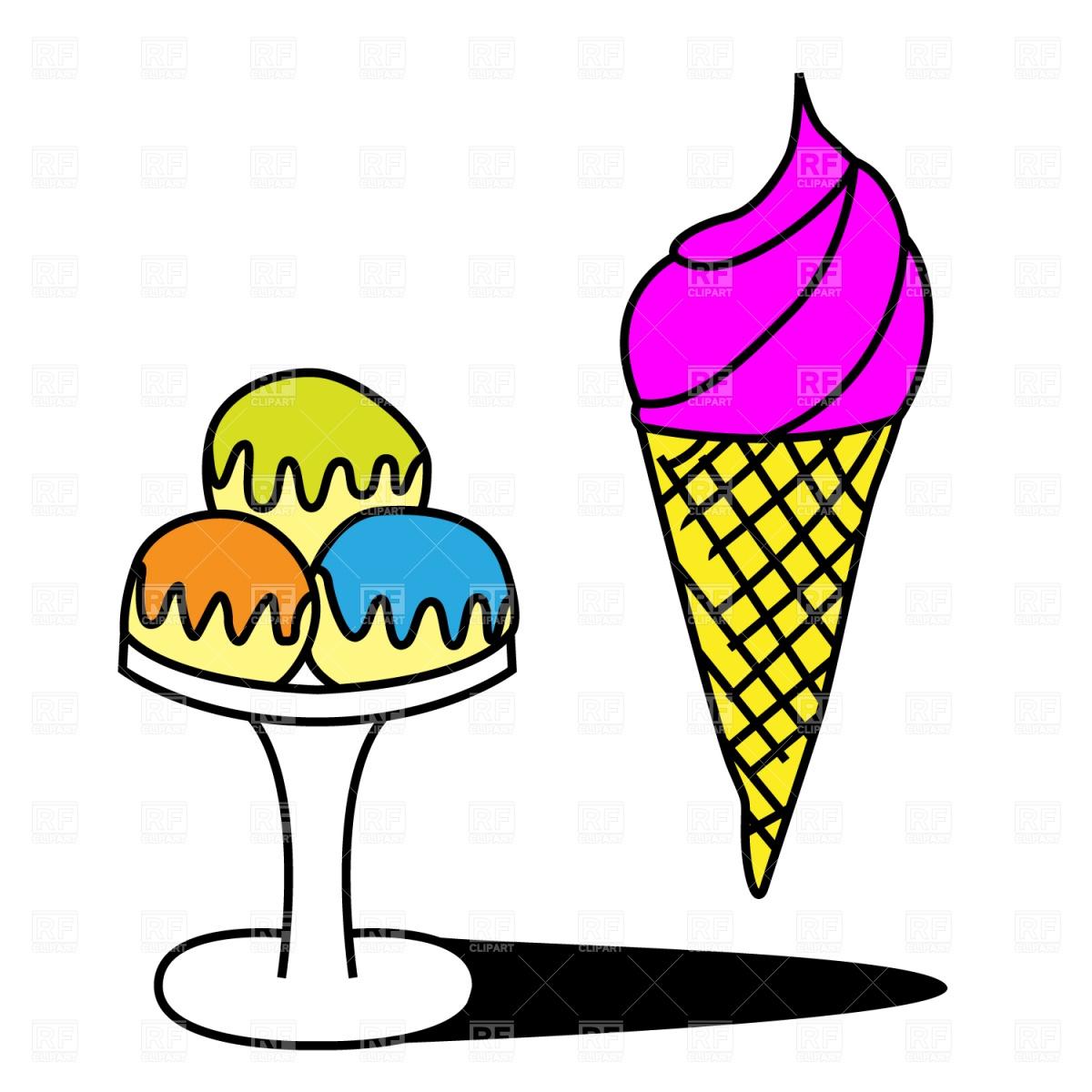 1200x1200 Ice Cream Cone Sketch Royalty Free Vector Clip Art Image
