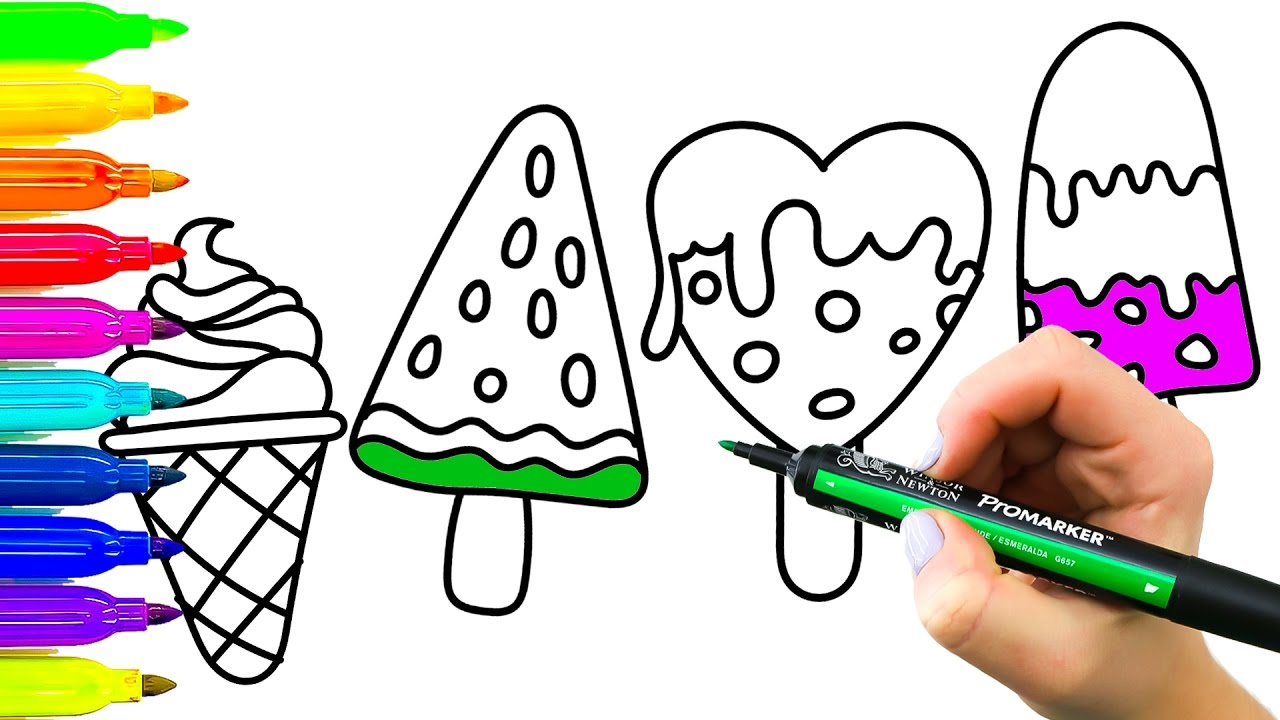1280x720 Drawing And Coloring Ice Cream Colouring Pages Ice Cream
