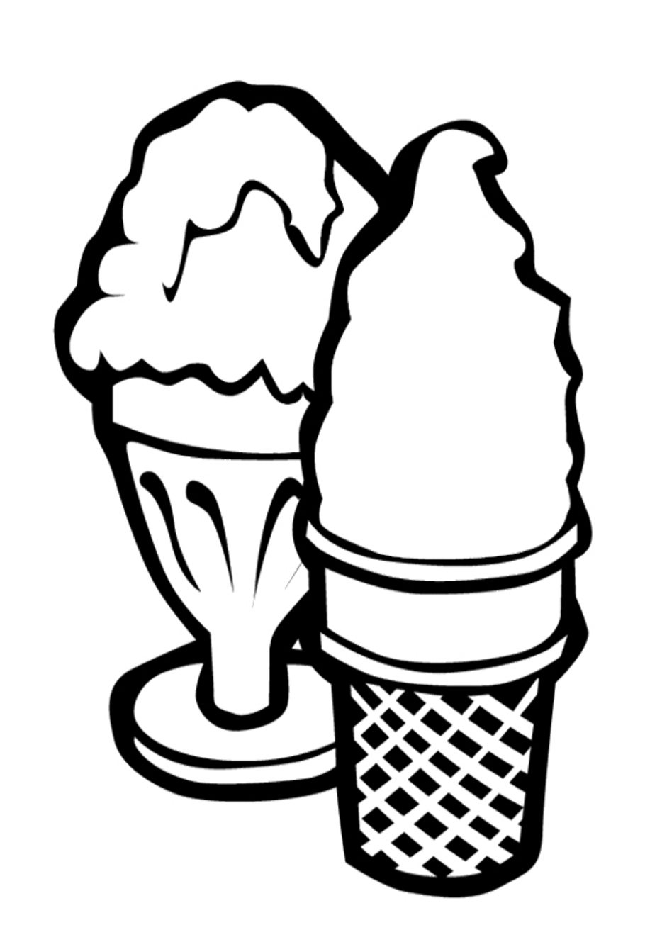 910x1336 Free Two Ice Cream Coloring Pages Foods Coloring Pages