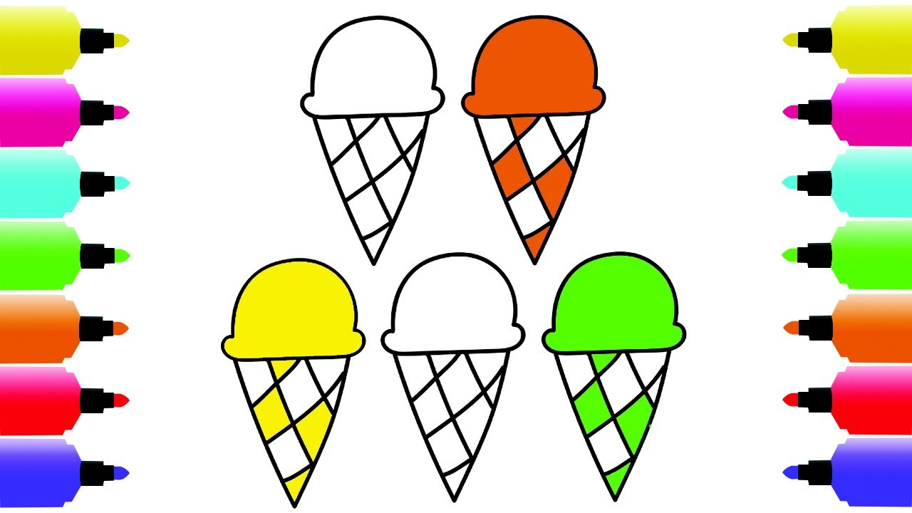 1280x720 How To Draw Ice Cream Coloring Pages Vibrant Colors Ice Cream