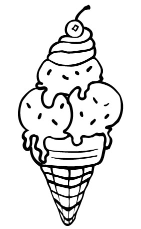 282x456 Ice Cream Coloring Pages For Free Download