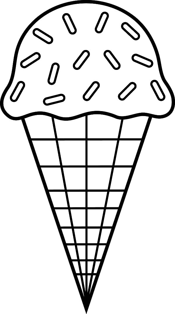 600x1074 Ice Cream Cone Chocolate Sprinkles Coloring Pages Bulk Color