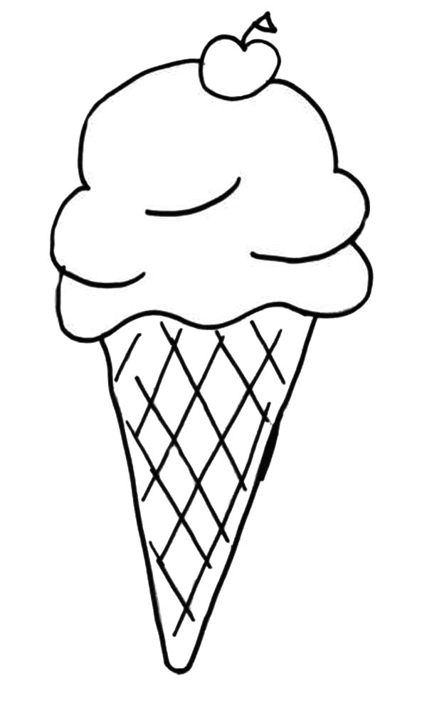600x988 Kids Favorite Ice Cream Cone Coloring Pages Bulk Color