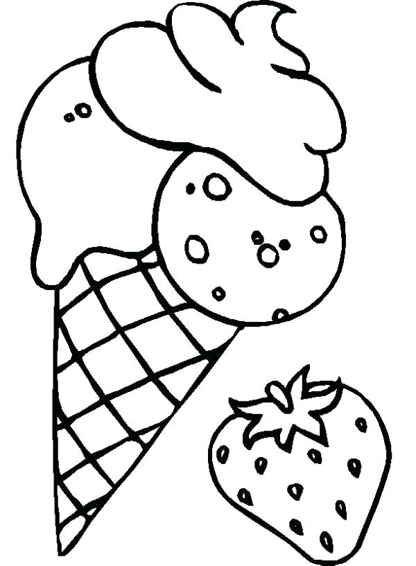 600x816 Ice Cream Coloring Pages