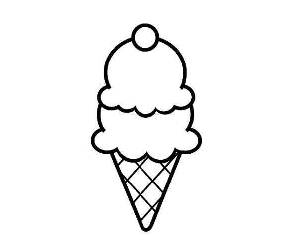 570x492 Drawn Ice Cream Simple Pretty