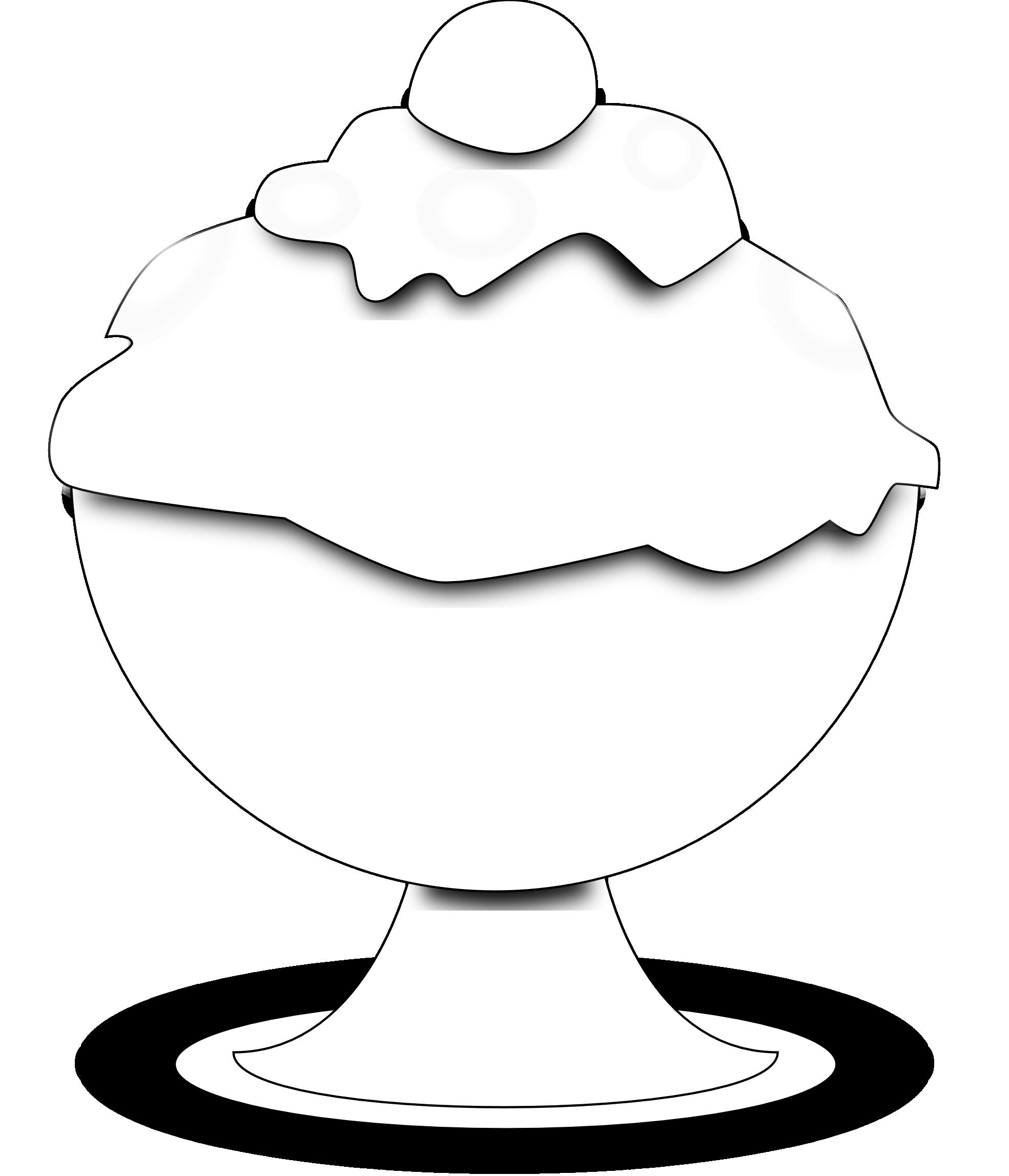 1969x2295 Food Ice Cream Black White Clipart Panda