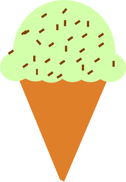 414x597 Ice Cream Cone With Sprinkles Clip Art