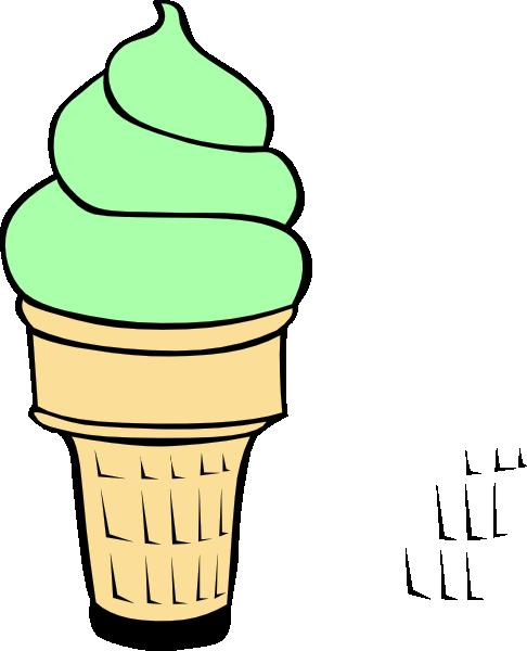 486x600 Pistachio Ice Cream Cone Clip Art